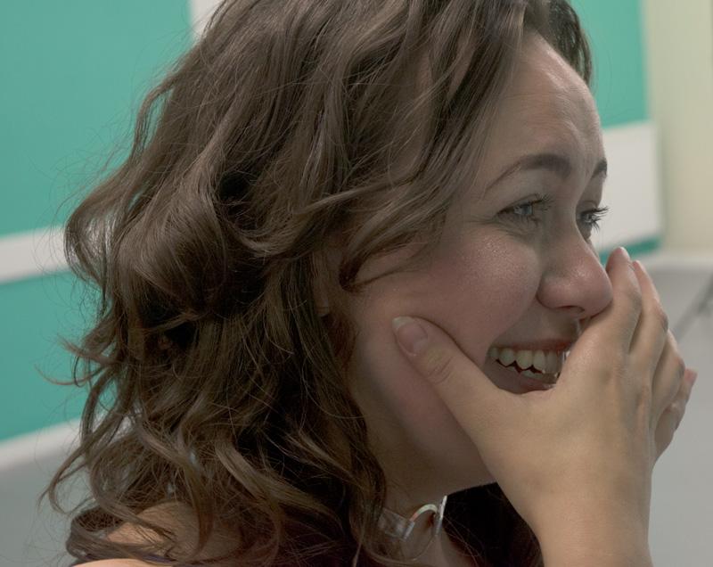 Corina laughing
